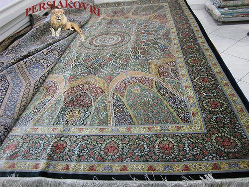 Шелковые ковры из Ирана дешево