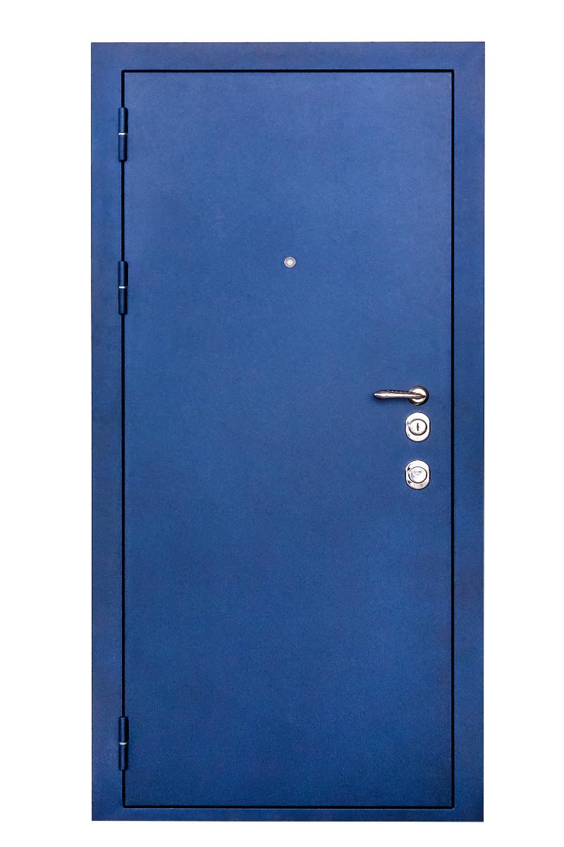 синие стальные двери