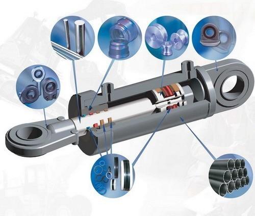 Гидроцилиндр стрелы экскаватора Hyundai R28-7.