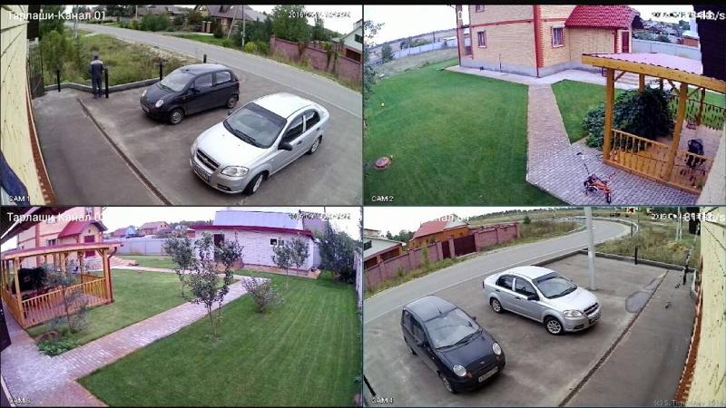Видеонаблюдение под ключ 4 камеры FullHD 1080p