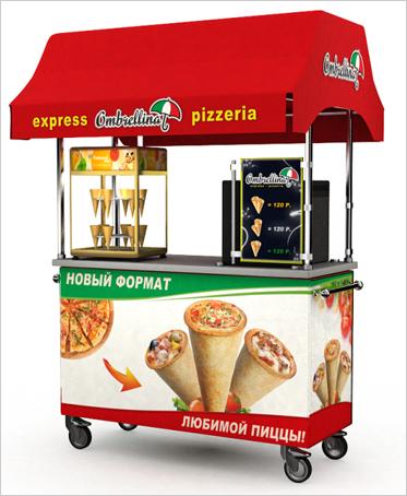 Мобильные прилавки Cono Pizza