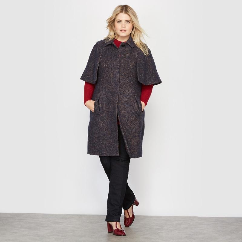 Женское пальто-накидка, 30 шерсти