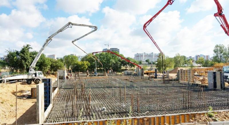 Заливка бетона, бетонирование конструкций