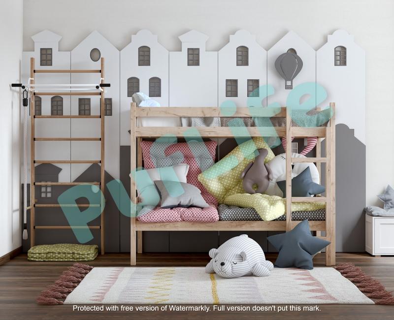Двухъярусные кровати из массива сосны от производителя