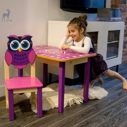 Купить детский стульчик столик из дерева